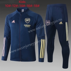 2020-2021 Arsenal Royal Blue Kids/Youth Soccer Jacket Uniform-815