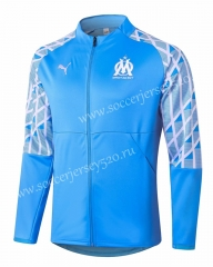 2020-2021 Olympique Marseille Light Blue Thailand Soccer Jacket-815