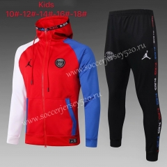 2020-2021 Jordan Paris SG Red Kids/Youth Soccer Jacket Uniform-815