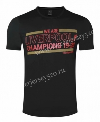 2020-2021 UEFA Champions League Liverpool Black T Shirt-GDP