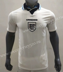 Retro Version 1996 England Home White Thailand Soccer Jersey AAA-416