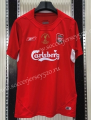 Retro Version 2005 Liverpool Home Red Thailand Soccer Jersey AAA-C1046