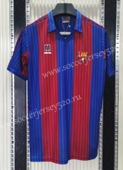 Retro Version 1990 Barcelona Home Red&Blue Thailand Soccer Jersey AAA-C1046