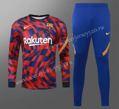 2020-2021 Barcelona Red&Blue Thailand Soccer Tracksuit-418