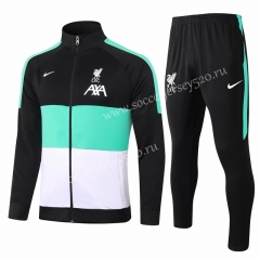 2020-2021 Liverpool Balck&White&Green Thailand Soccer Jacket Uniform-815