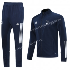 2020-2021 Juventus Blue Thailand Training Soccer Jacket Uniform-LH