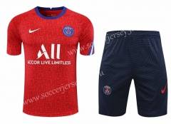 2020-2021 Paris SG Red Thailand Training Soccer Uniform-418