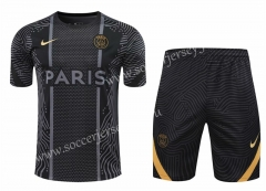2020-2021 Paris SG Black Thailand Training Soccer Uniform-418
