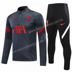 2020-2021 Liverpool Dark Gray Thailand Soccer Tracksuit-418
