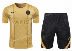 2020-2021 Paris SG Gold Thailand Training Soccer Uniform-418