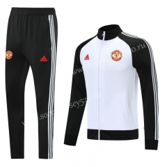 2020-2021 Manchester United White Thailand Soccer Jacket Uniform-LH