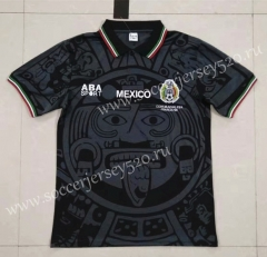 Retro Version Mexico Black Thailand Soccer Jersey AAA-422