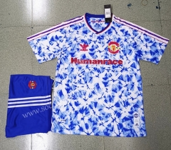 Signed Jointly Version 2020-2021 Manchester United Blue Soccer Uniform