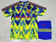 Signed Jointly 2020-2021 Arsenal Yellow&Blue Soccer Uniform