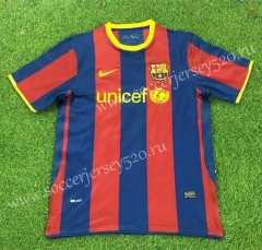Retro Version 10-11 Barcelona Home Red&Blue Thailand Soccer Jersey AAA-503