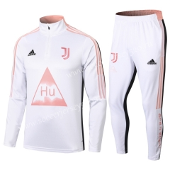 Signed Jointly Version 2020-2021 Juventus White Thailand Soccer Tracksuit-411