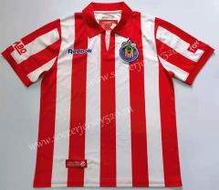 Retro Version 2008 Deportivo Guadalajara Home Red&White Thailand Soccer Jersey AAA-912