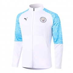 2020-2021 Manchester City White Thailand Soccer Jacket-815