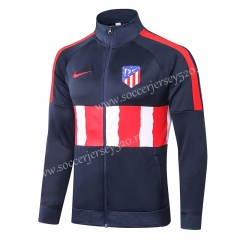 2020-2021 Atletico Madrid Royal Blue Half Red&White Thailand Soccer Jacket-815