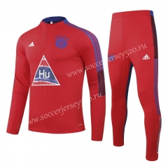 Signed Jointly Version 2020-2021 Bayern München Red Kids/Youth Tracksuit Uniform-GDP
