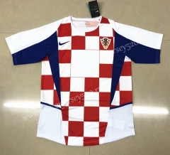 Retro Version 2002 Croatia Home Red&White Thailand Soccer Jersey AAA-HR