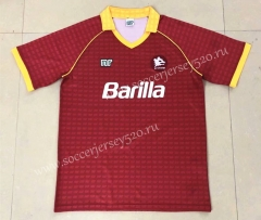 Retro Version 90-91 Roma Home Red Thailand Soccer Jersey AAA-HR
