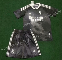 Signed Jointly Version 2020-2021 Real Madrid Black Soccer Uniform-SKE