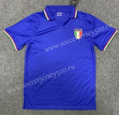 Retro Version 1982 Italy Home Blue Thailand Soccer Jersey AAA-GB