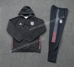 2020-2021 Bayern München Black Ribbon Thailand Soccer Tracksuit Uniform With Hat-LH