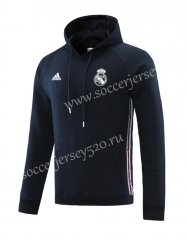 2020-2021 Real Madrid Royal Blue Ribbon Soccer Tracksuit-LH