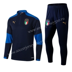 2020-2021 Italy Royal Blue Thailand Soccer Tracksuit Uniform-411