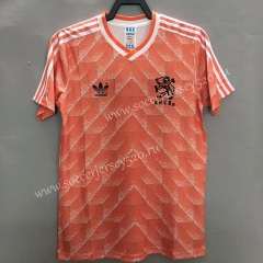 Retro Version 1988 Netherlands Home Pink Thailand Soccer Jersey AAA-811