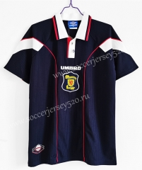 Retro Version 1996-1998 Scotland Home Royal Blue Thailand Soccer Jersey AAA-C1046