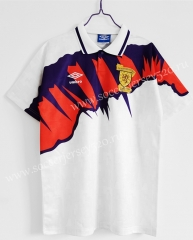 Retro Version 1991-1993 Scotland Away White Thailand Soccer Jersey AAA-C1046