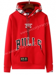 2020-2021 Chicago Bulls&Aape Red Thailand Soccer Tracksuit With Hat-LH