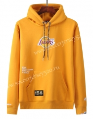 2020-2021 Los Angeles Lakers&Aape Yellow Thailand Soccer Tracksuit With Hat-LH