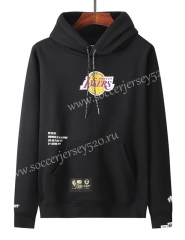 2020-2021 Los Angeles Lakers&Aape Black Thailand Soccer Tracksuit With Hat-LH