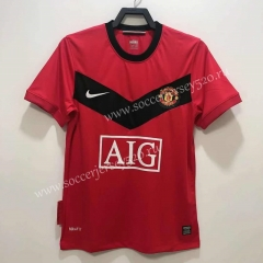Retro Version 2010 Manchester United Home Red Thailand Soccer Jersey AAA-811