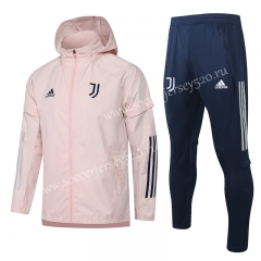 2020-2021 Juventus Pink Trench Coats Uniform With Hat-815