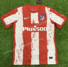 2021-2022 Atlético Madrid Home Red&White Thailand Soccer Jersey AAA-407
