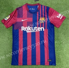 2021-2022 Barcelona Home Red&Blue Thailand Soccer Jersey AAA