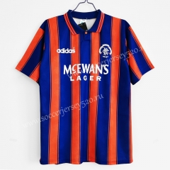 Retro Version 1993-1994 Rangers Away Red&Blue Thailand Soccer Jersey AAA-C1046