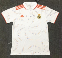 2021-2022 Real Madrid White Thailand Polo Shirt-803