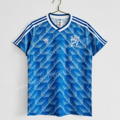 Retro Version 1988 Netherlands Away Blue Thailand Soccer Jersey AAA-811