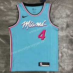 2021-2022 Miami Heat Blue #4 NBA Jersey-311
