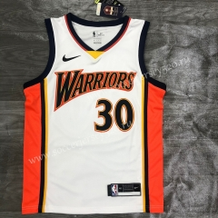 2021-2022 Golden State Warriors White #30 NBA Jersey-311