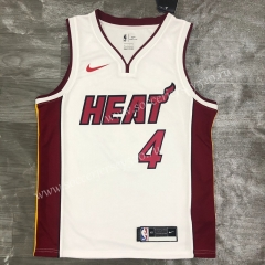 2021-2022 Miami Heat White V-collar #4 NBA Jersey-311