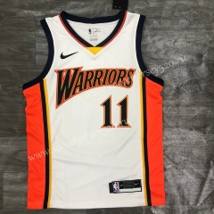 2021-2022 Golden State Warriors White #11 NBA Jersey-311
