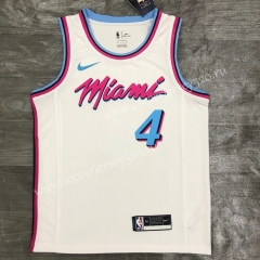 2021-2022 Miami Heat White #4 NBA Jersey-311