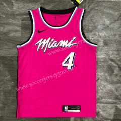 2021-2022 Miami Heat Pink #4 NBA Jersey-311